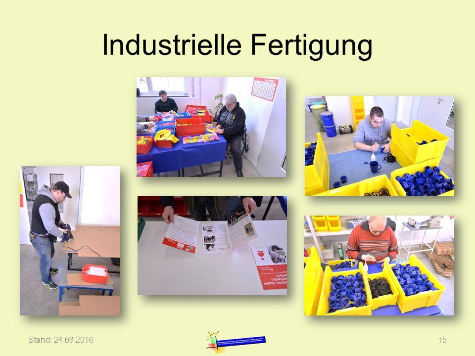 Industrielle Fertigung Stand: 24.03.201615