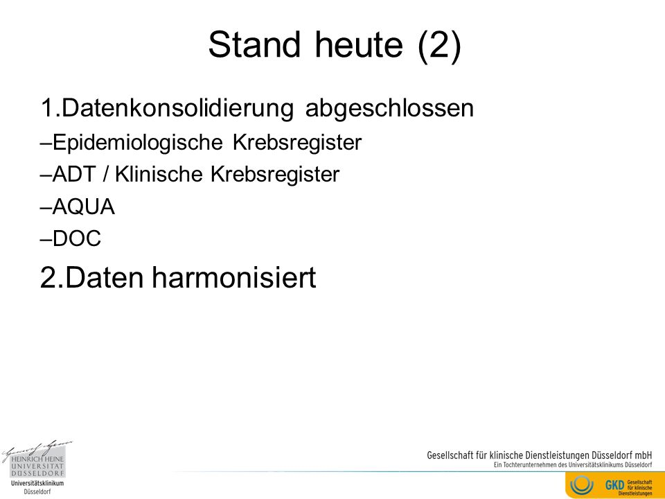 Stand heute