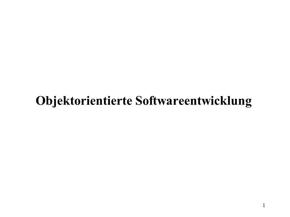 1 Objektorientierte Softwareentwicklung