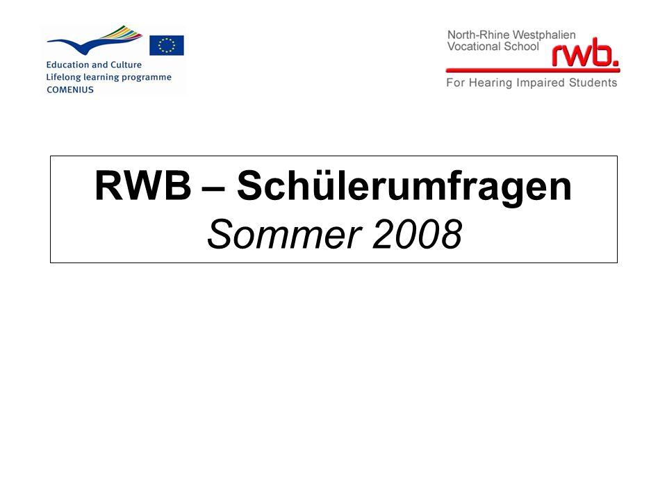 RWB – Schülerumfragen Sommer 2008