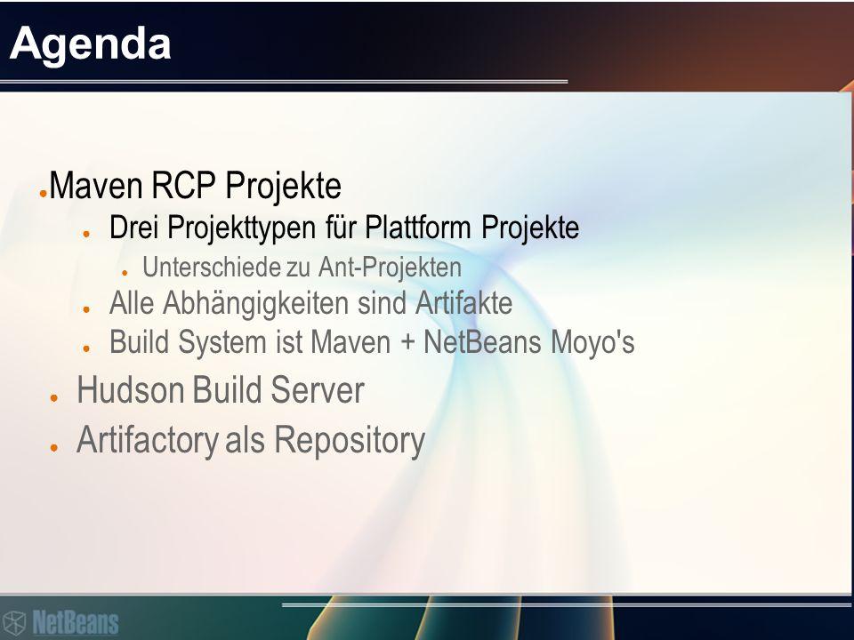  Maven RCP Projekte Projekttypen für Maven based Platform Projects > Maven Archetype