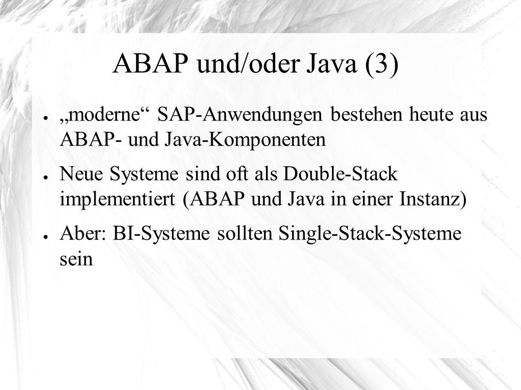 SAP-Instanzen ABAP ● Zentralinstanz: DVEBMGS – Dialog – Verbucher – Enqueue – Background – Message-Server – Gateway – Spool ● Dialoginstanz: D – Dialog – Verbucher – Background – Gateway – Spool