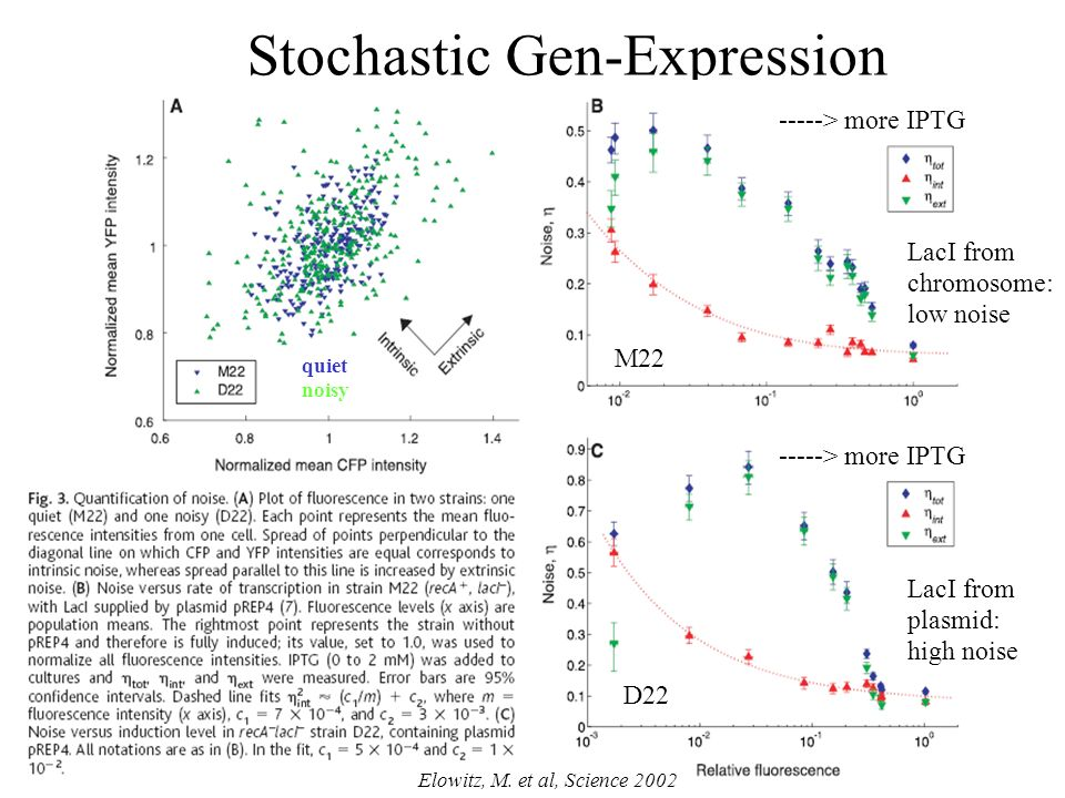 Definitions on Noise Rauschen Rauschamplitude nimmt als Funktion der Proteinkonzentration ab.