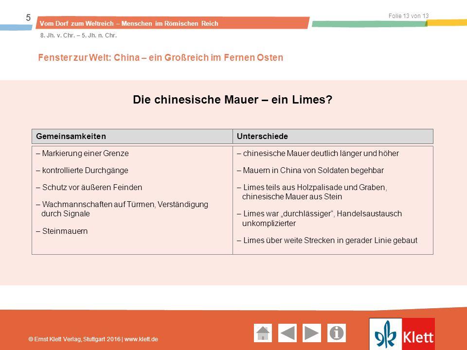 Geschichte und Geschehen Oberstufe Folie 13 von 13 Vom Dorf zum Weltreich – Menschen im Römischen Reich 5 8.