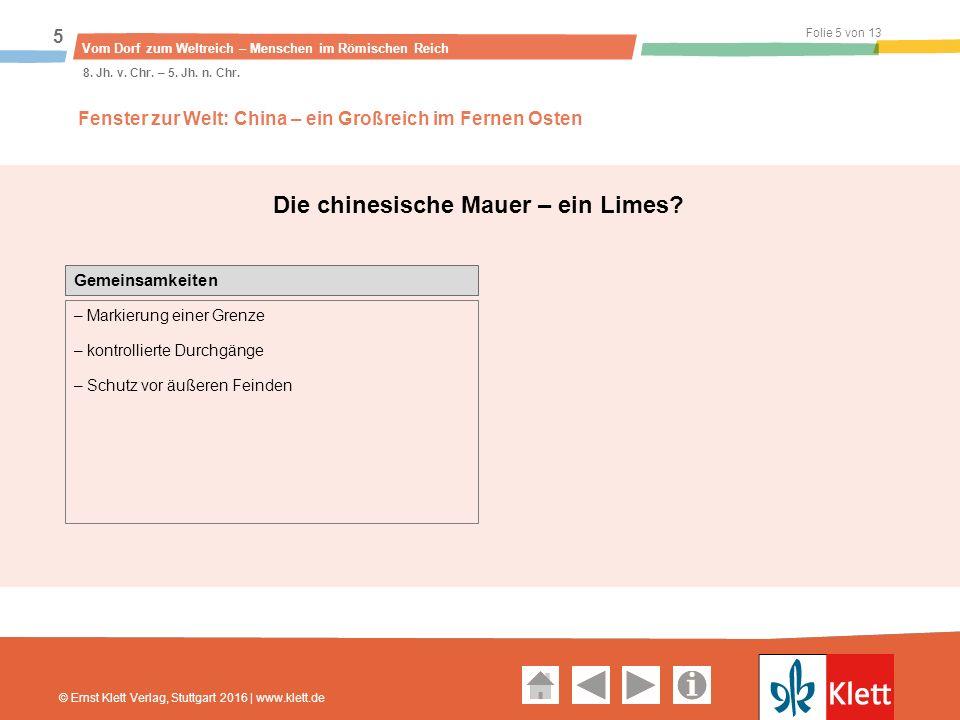 Geschichte und Geschehen Oberstufe Folie 5 von 13 Vom Dorf zum Weltreich – Menschen im Römischen Reich 5 8.