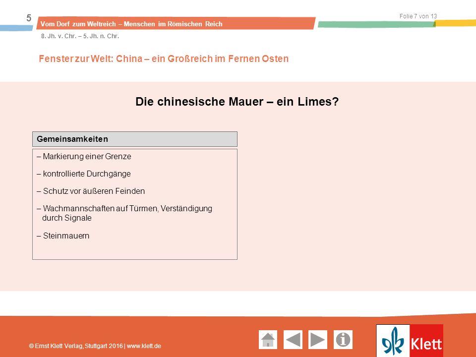 Geschichte und Geschehen Oberstufe Folie 8 von 13 Vom Dorf zum Weltreich – Menschen im Römischen Reich 5 8.