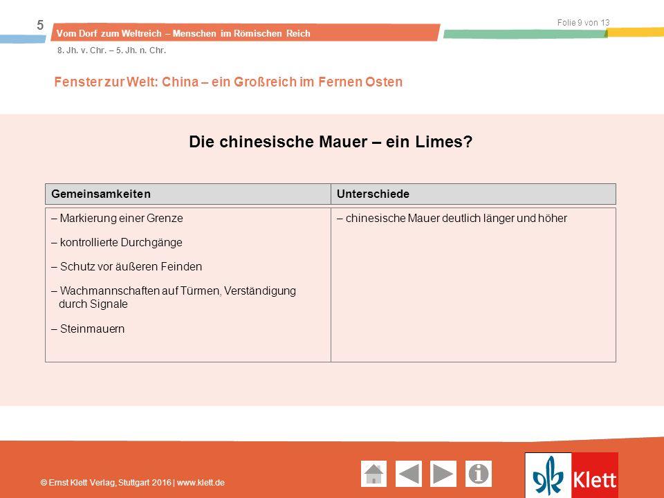 Geschichte und Geschehen Oberstufe Folie 9 von 13 Vom Dorf zum Weltreich – Menschen im Römischen Reich 5 8.