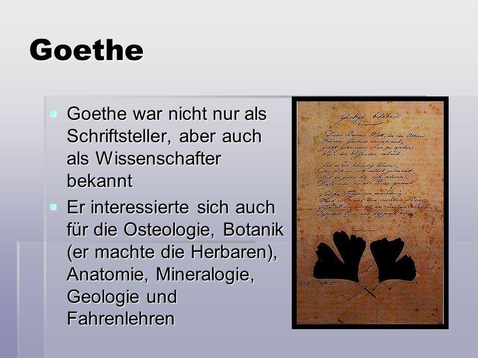 Goethe  Er studierte die Wirkung der anzelen Farben an die Menschen  Jedes Zimmer in seinem Haus hat eine andere Farbe nach dem Zweck, z.