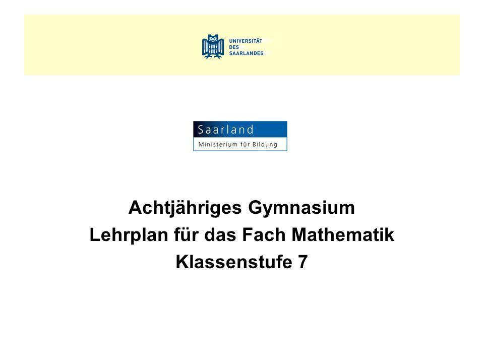 Mathematik, Klassenstufe 7 3.