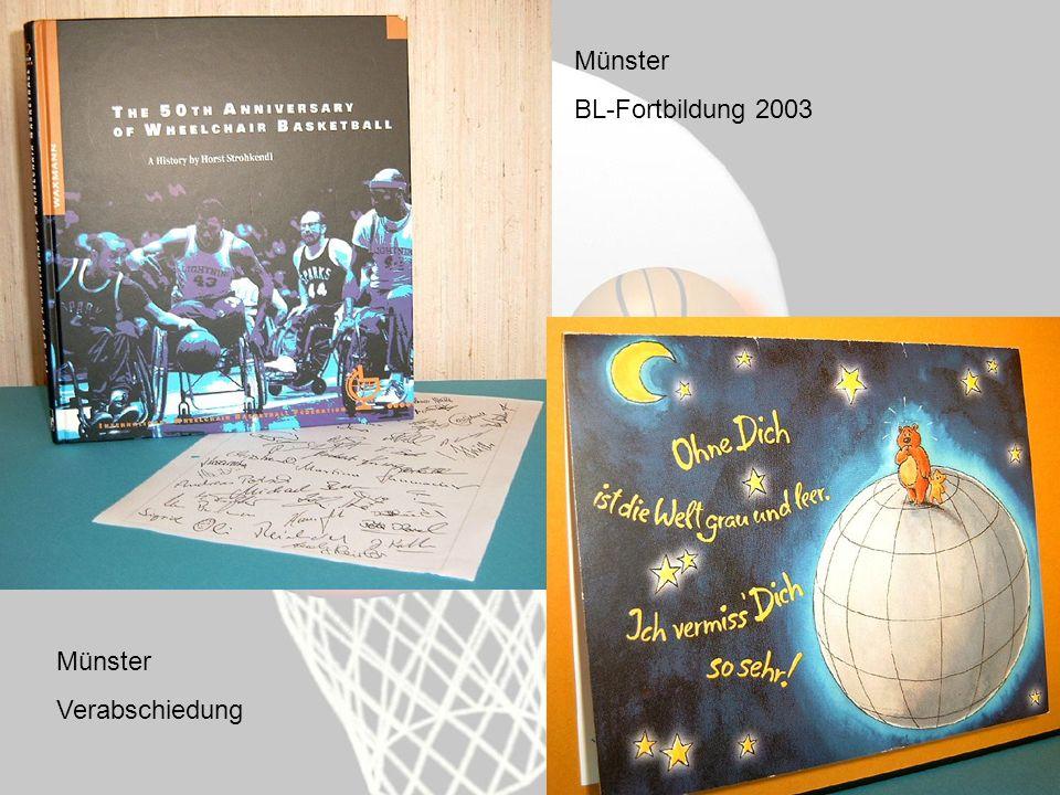 Münster BL-Fortbildung 2003 Münster Verabschiedung