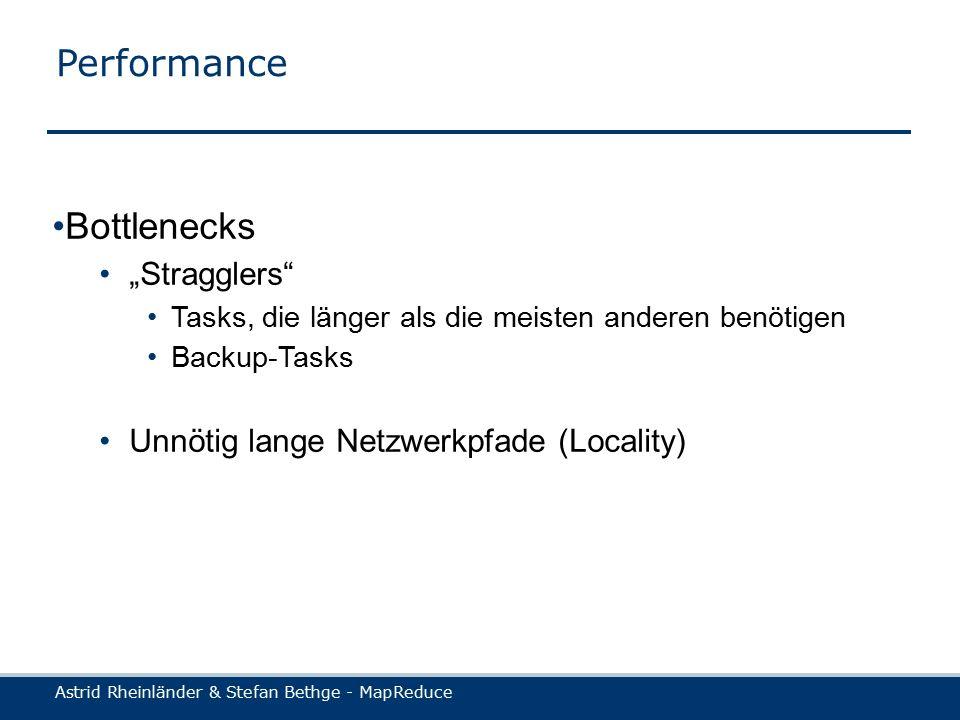 Astrid Rheinländer & Stefan Bethge - MapReduce Locality (1)