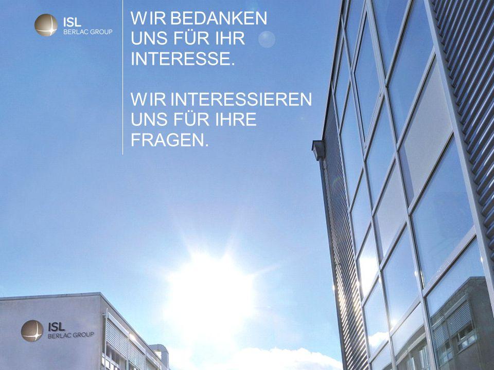 ISL-Chemie GmbH & Co. KG 22.09.2016 Seite 11 WIR BEDANKEN UNS FÜR IHR INTERESSE.