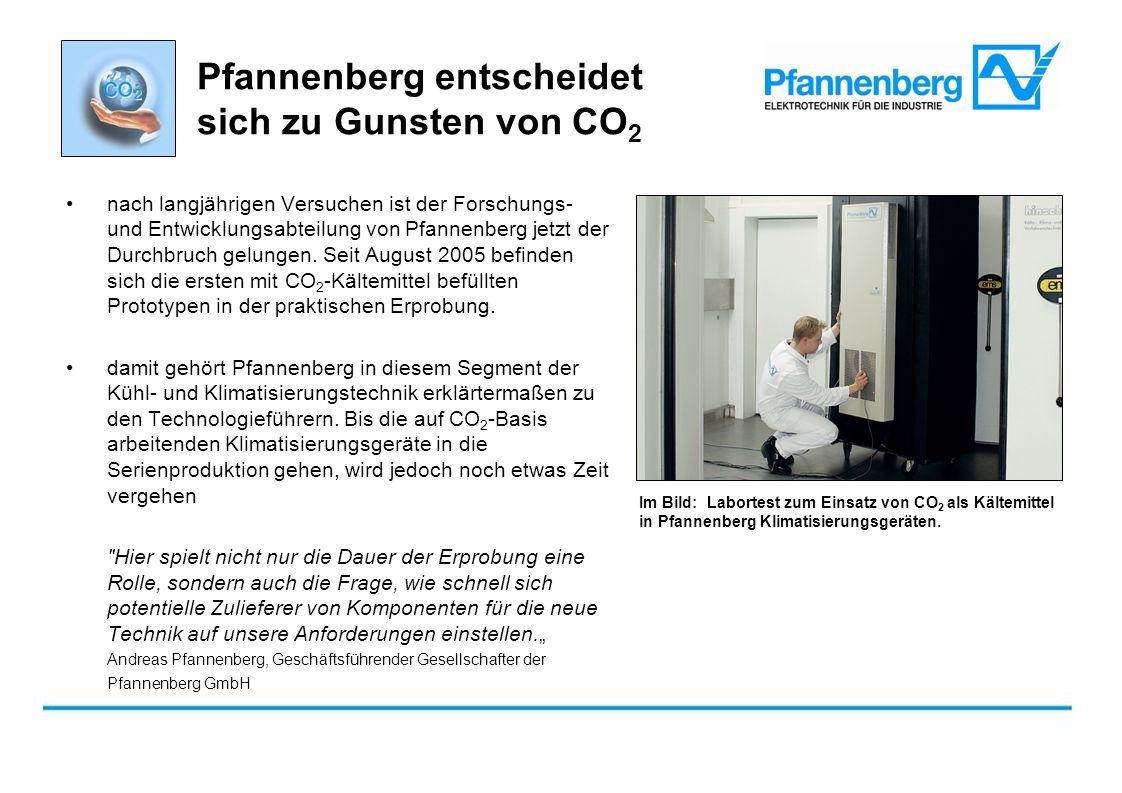 nach langjährigen Versuchen ist der Forschungs- und Entwicklungsabteilung von Pfannenberg jetzt der Durchbruch gelungen. Seit August 2005 befinden sic