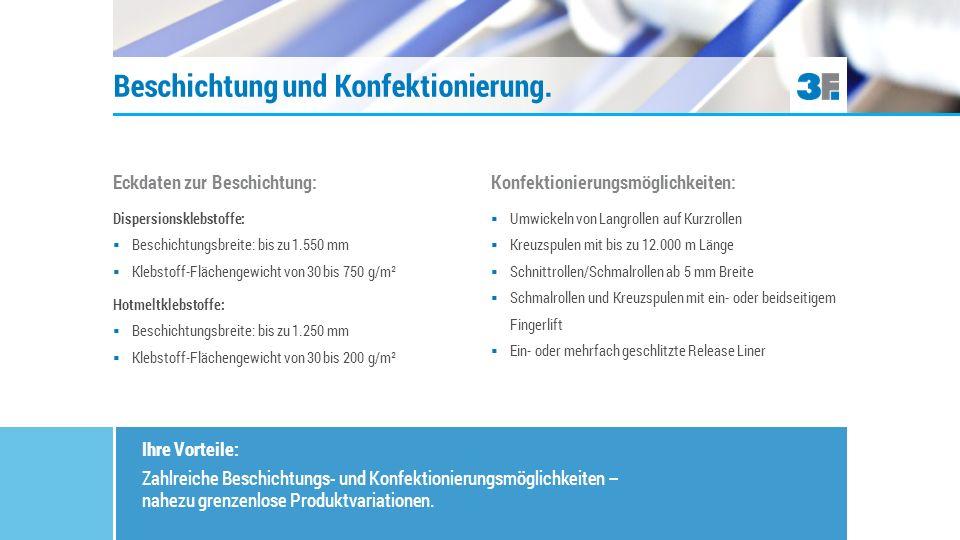 Drei wichtige Produktkategorien: Transferklebebänder, doppelseitige Klebebänder:  Trägermaterialien: Gelege, Gewebe, Folien, Papiervliese  Release Liner: Papiere und Folien in verschiedenen Grammaturen/Dicken, Farben und Trennwerten Schaumstoffklebebänder:  Trägermaterialien: PE, PU, PVC oder Zellkautschuk (NR, EPDM, CR) in verschiedenen Dicken Selbstklebende Produktvielfalt.