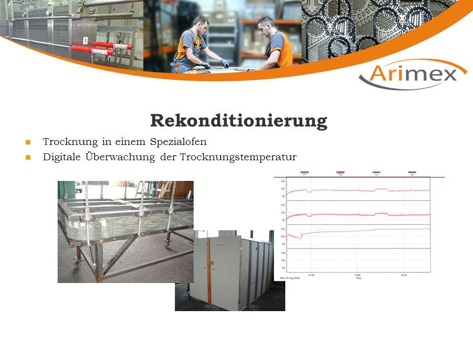 Rekonditionierung Trocknung in einem Spezialofen Digitale Überwachung der Trocknungstemperatur