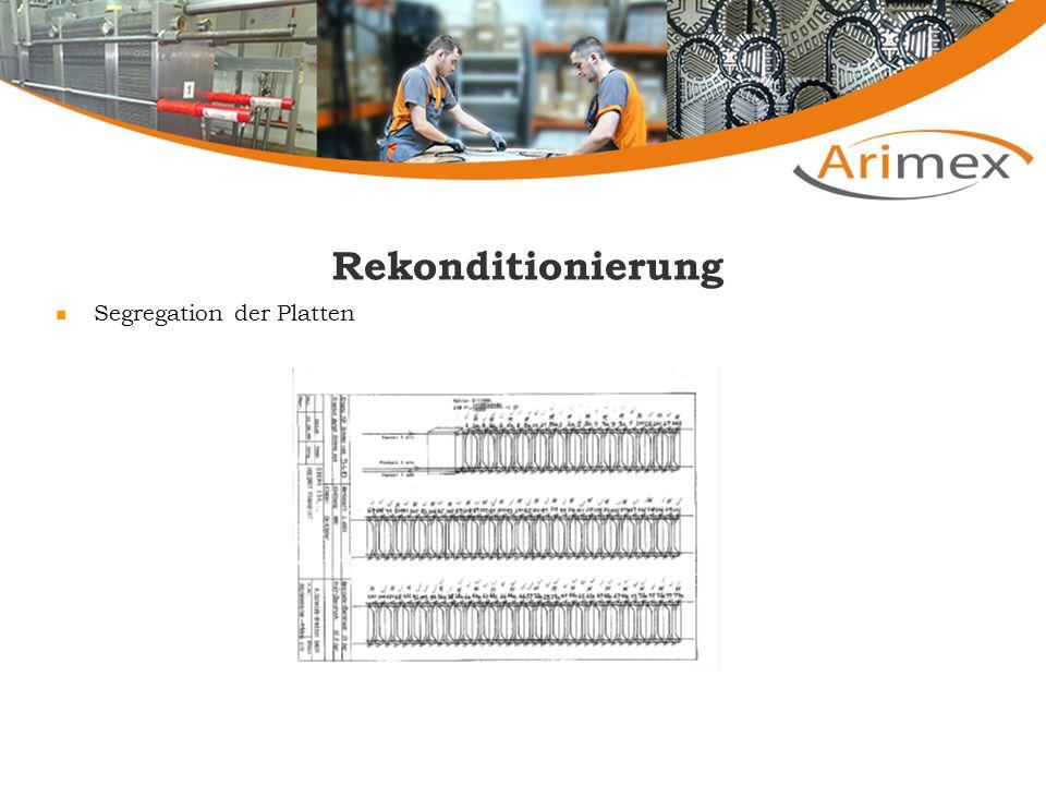 Rekonditionierung Segregation der Platten