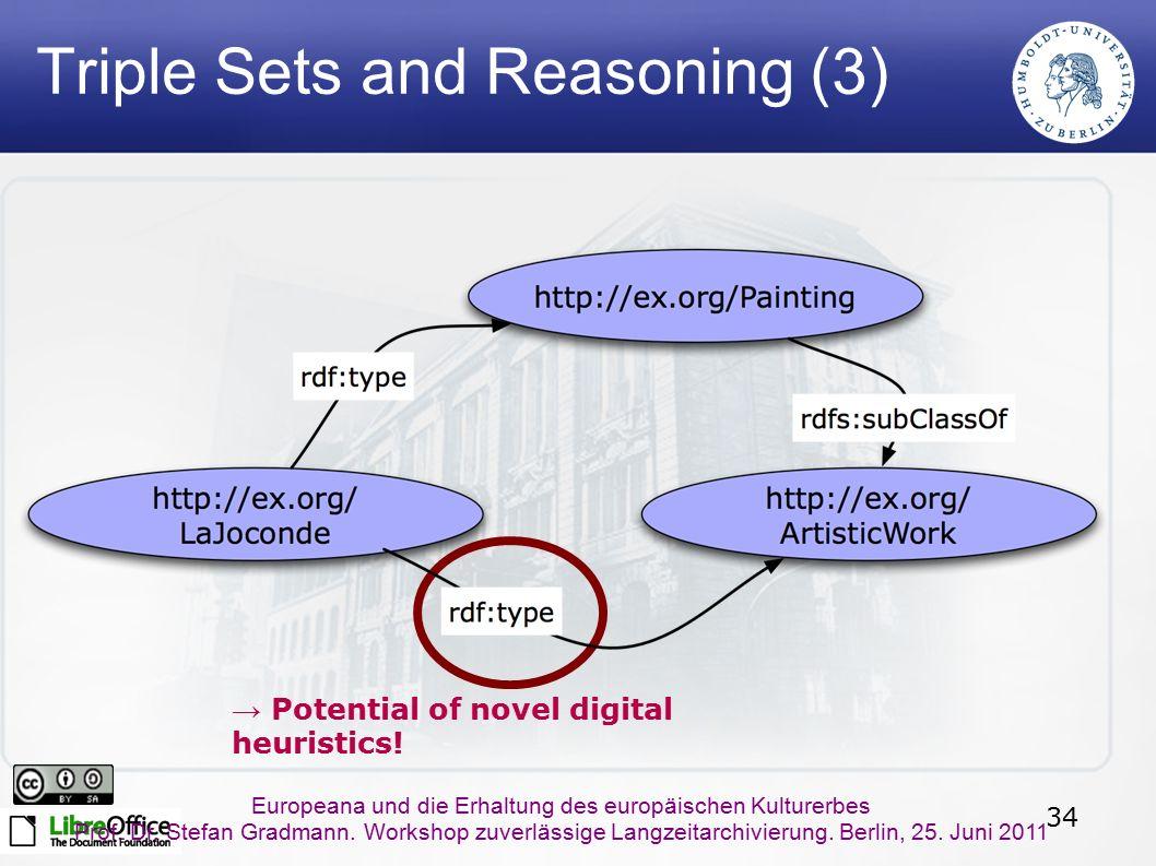 34 Europeana und die Erhaltung des europäischen Kulturerbes Prof. Dr. Stefan Gradmann. Workshop zuverlässige Langzeitarchivierung. Berlin, 25. Juni 20