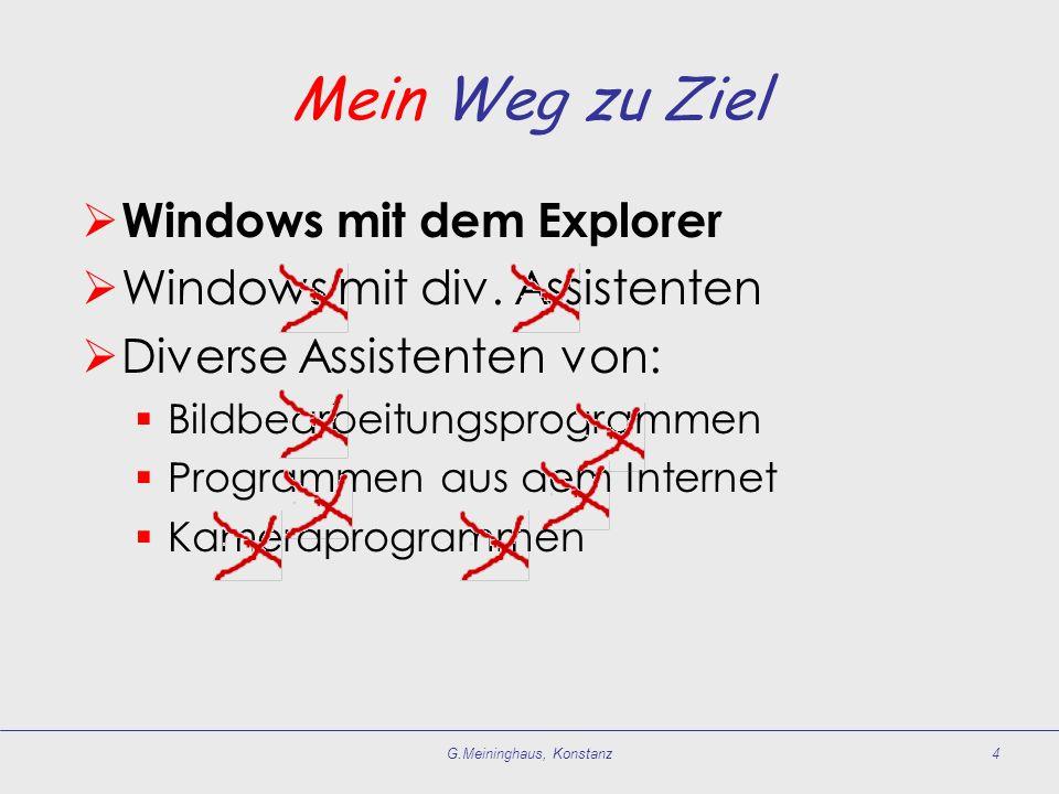 Mein Weg zu Ziel  Windows mit dem Explorer  Windows mit div.