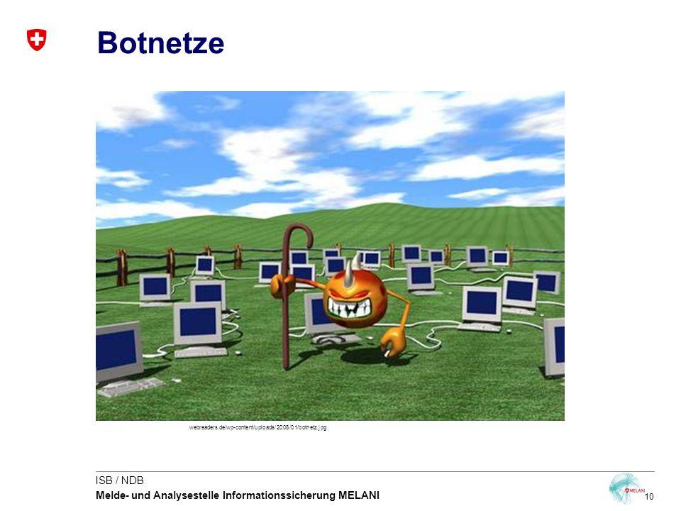 10 ISB / NDB Melde- und Analysestelle Informationssicherung MELANI Botnetze webreaders.de/wp-content/uploads/2008/01/botnetz.jpg