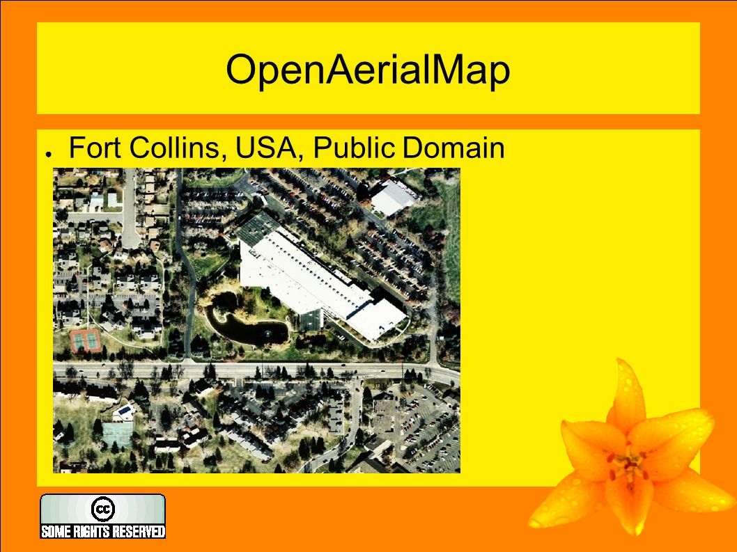 OpenAerialMap ● Fort Collins, USA, Public Domain