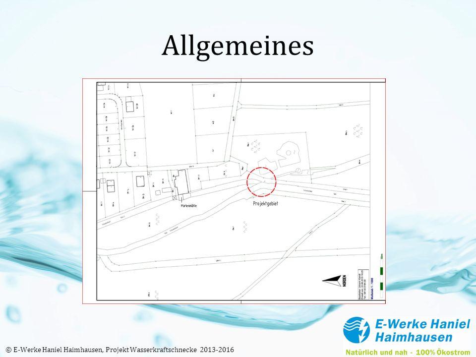 Allgemeines © E-Werke Haniel Haimhausen, Projekt Wasserkraftschnecke 2013-2016