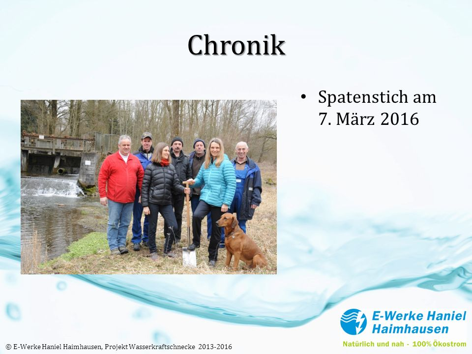Chronik Spatenstich am 7.
