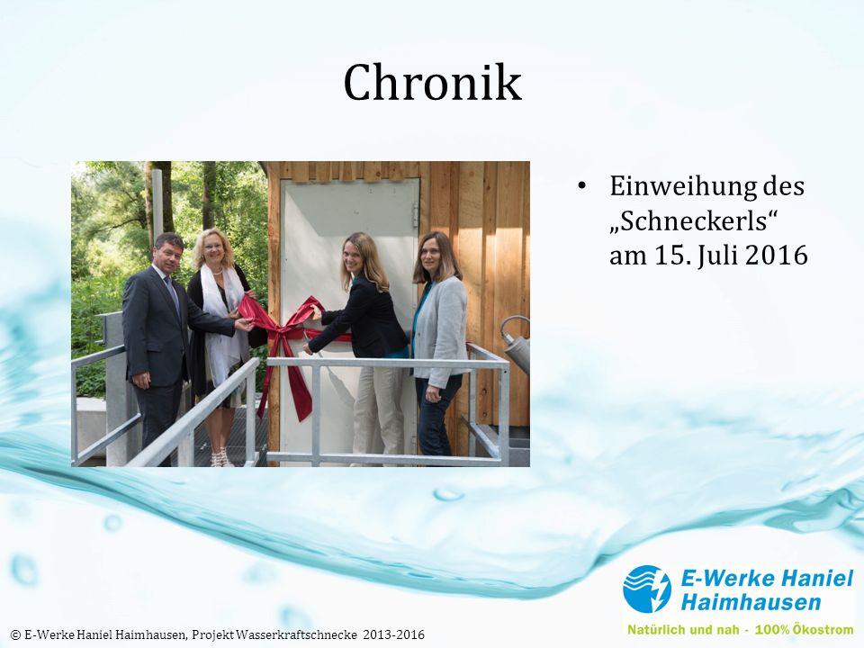 """Chronik Einweihung des """"Schneckerls am 15."""