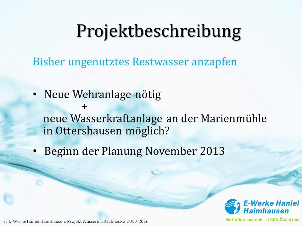 Projektbeschreibung Bisher ungenutztes Restwasser anzapfen Neue Wehranlage nötig + neue Wasserkraftanlage an der Marienmühle in Ottershausen möglich?