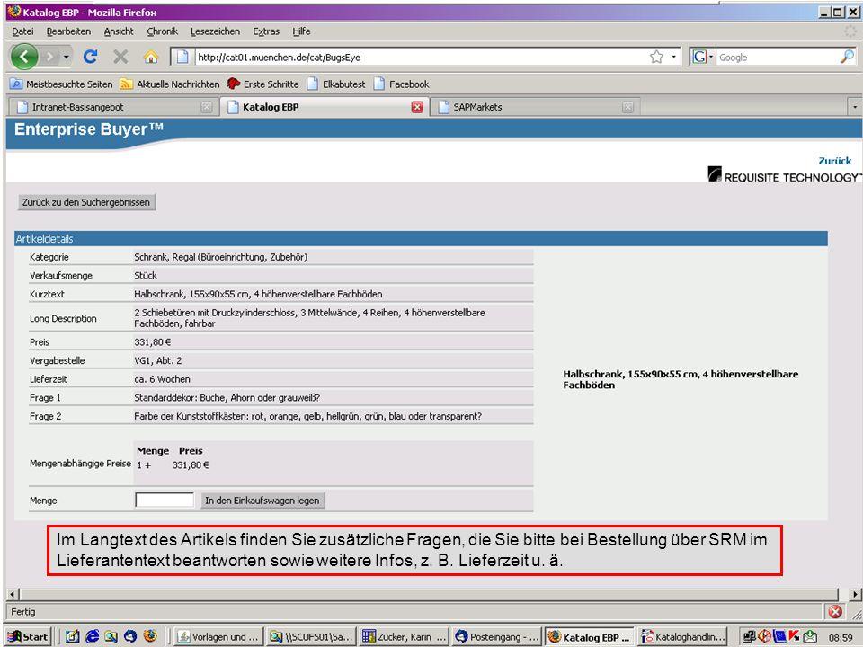 GL 2.11-BK Im Langtext des Artikels finden Sie zusätzliche Fragen, die Sie bitte bei Bestellung über SRM im Lieferantentext beantworten sowie weitere