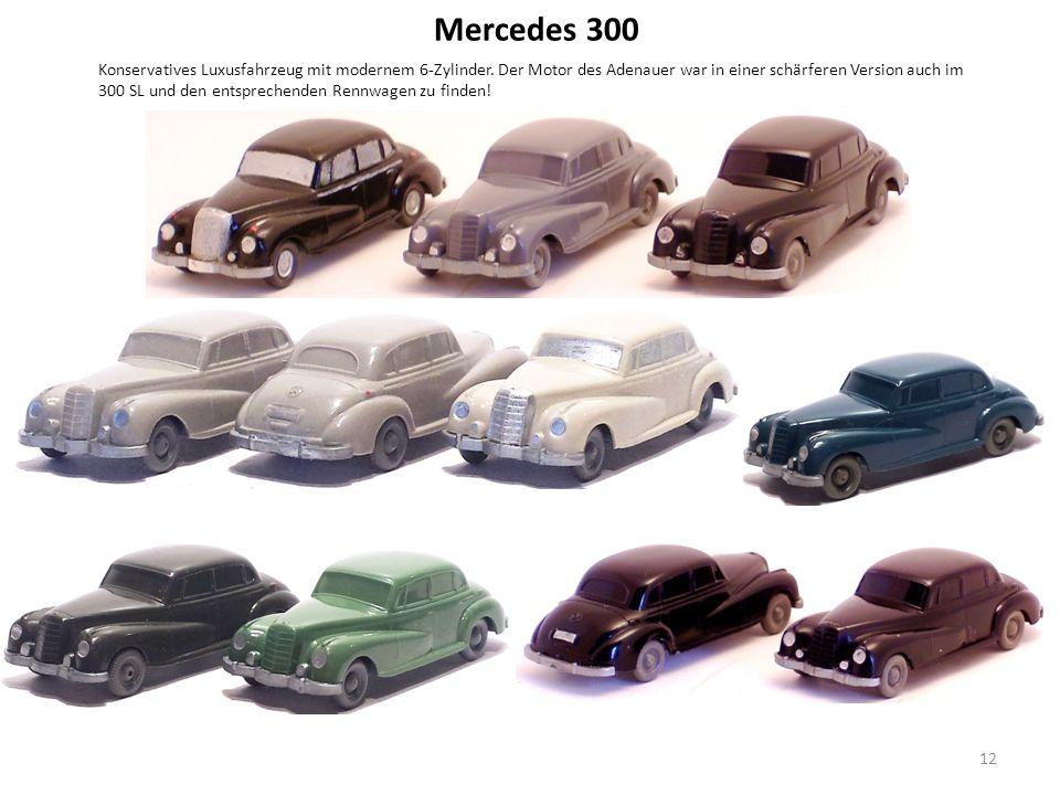 Mercedes 300 Konservatives Luxusfahrzeug mit modernem 6-Zylinder.