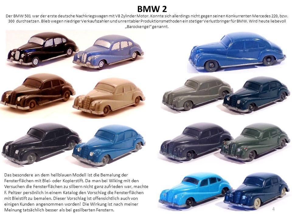Der BMW 501 war der erste deutsche Nachkriegswagen mit V8 Zylinder Motor.