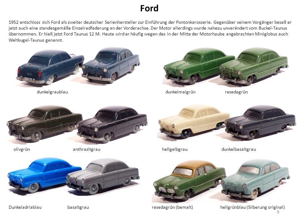 Ford 1952 entschloss sich Ford als zweiter deutscher Serienhersteller zur Einführung der Pontonkarosserie.