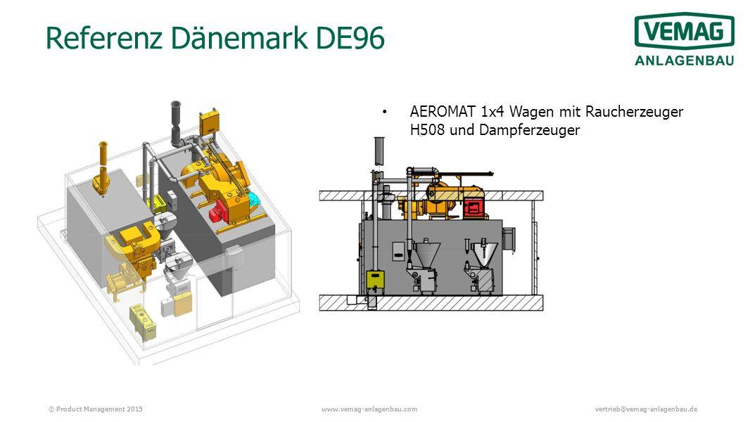 © Product Management 2015www.vemag-anlagenbau.comvertrieb@vemag-anlagenbau.de Referenz Dänemark DE96 AEROMAT 1x4 Wagen mit Raucherzeuger H508 und Dampferzeuger