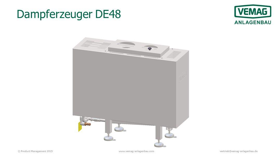 © Product Management 2015www.vemag-anlagenbau.comvertrieb@vemag-anlagenbau.de Dampferzeuger DE48