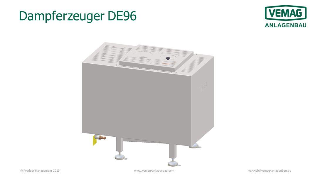 © Product Management 2015www.vemag-anlagenbau.comvertrieb@vemag-anlagenbau.de Dampferzeuger DE96