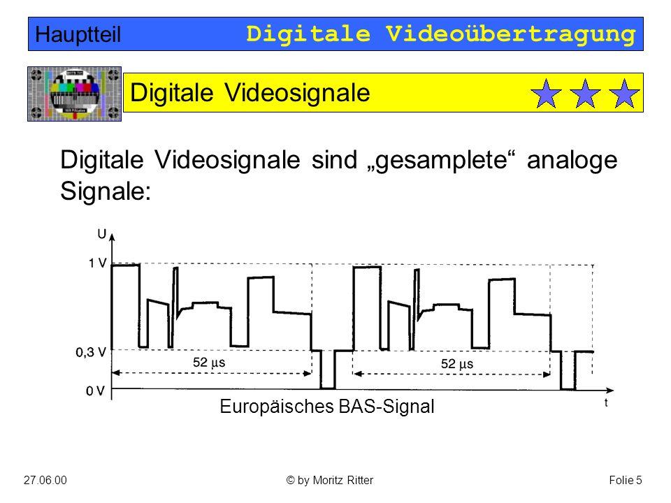 Digitale Videoübertragung 27.06.00Folie 16© by Moritz Ritter Leitungscodes: Hauptteil Lösung