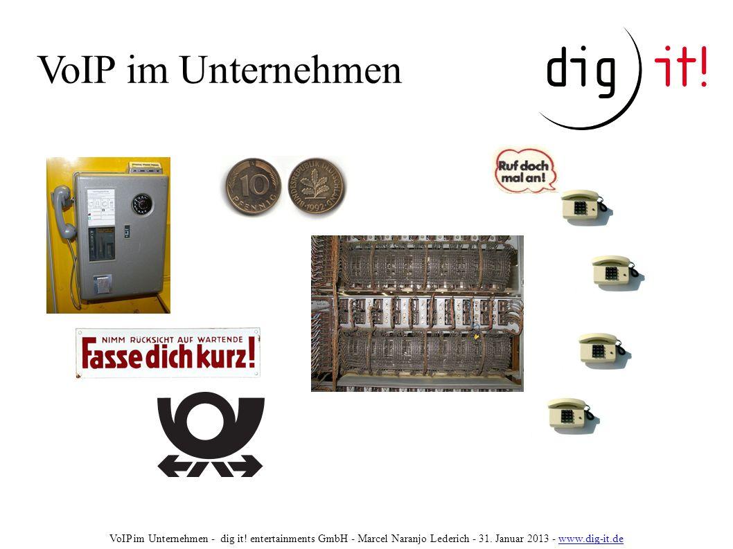 VoIP im Unternehmen VoIP im Unternehmen - dig it.