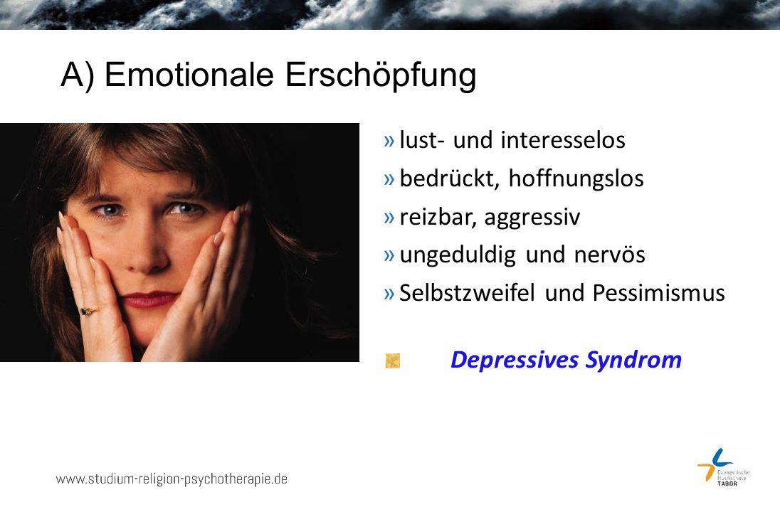 Definition Burnout Drei wesentliche Elemente: »Emotionale Erschöpfung »Verlust des Einfühlungsvermögens »Verminderte Leistungsfähigkeit