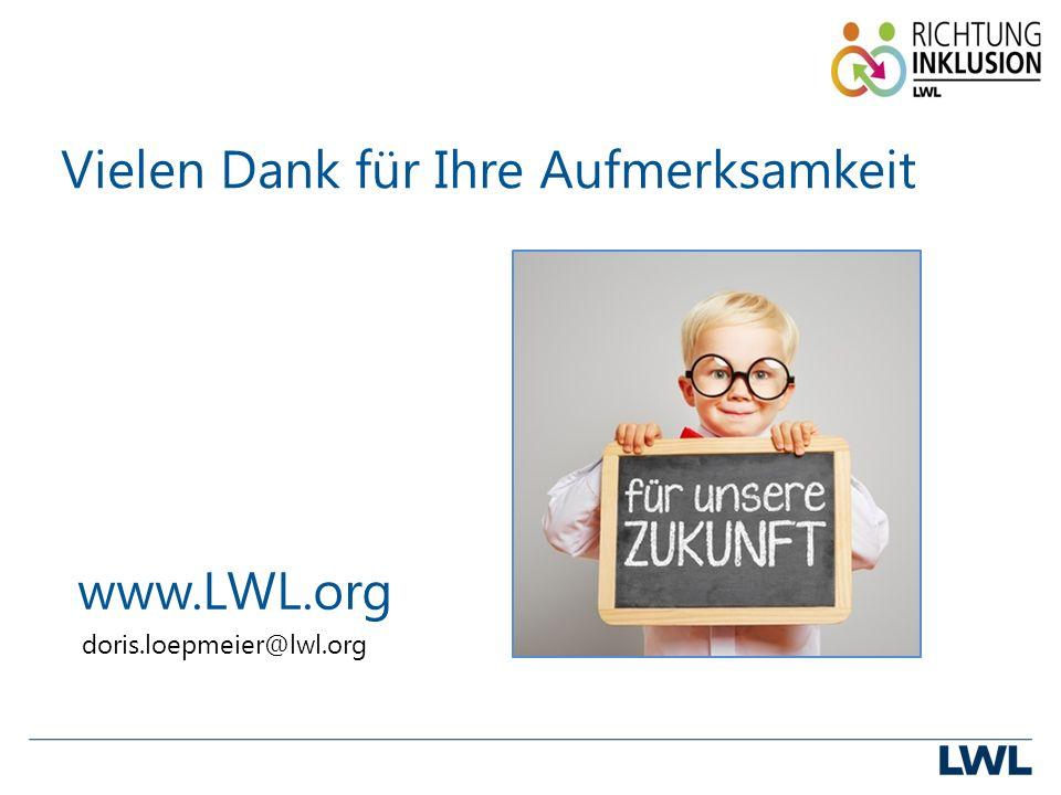 Vielen Dank für Ihre Aufmerksamkeit www.LWL.org doris.loepmeier@lwl.org