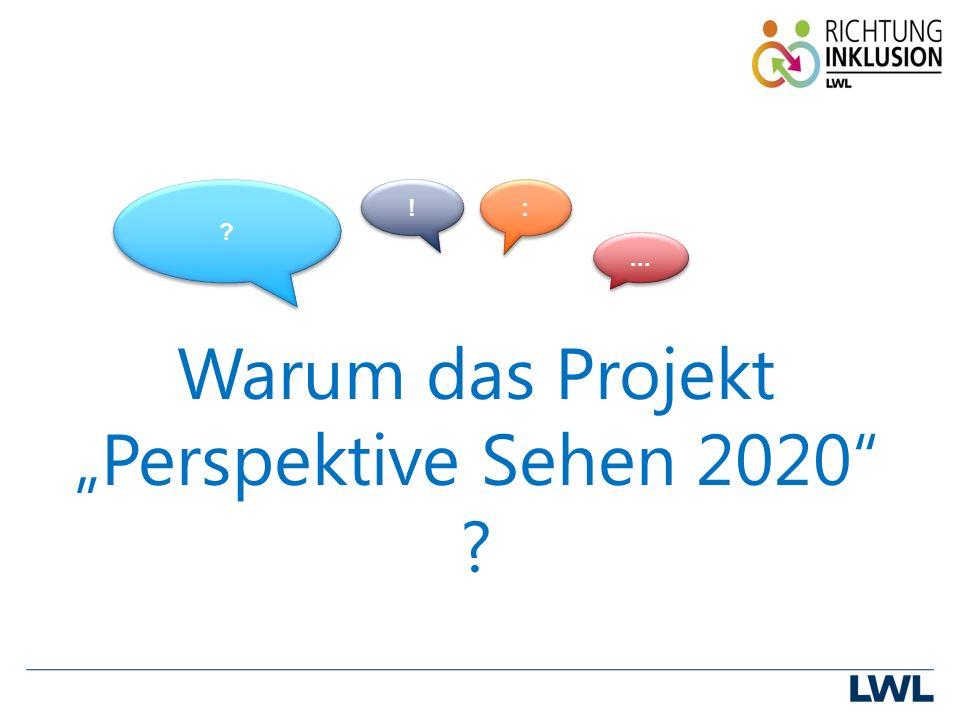 """Warum das Projekt """"Perspektive Sehen 2020 ! ! : :..."""