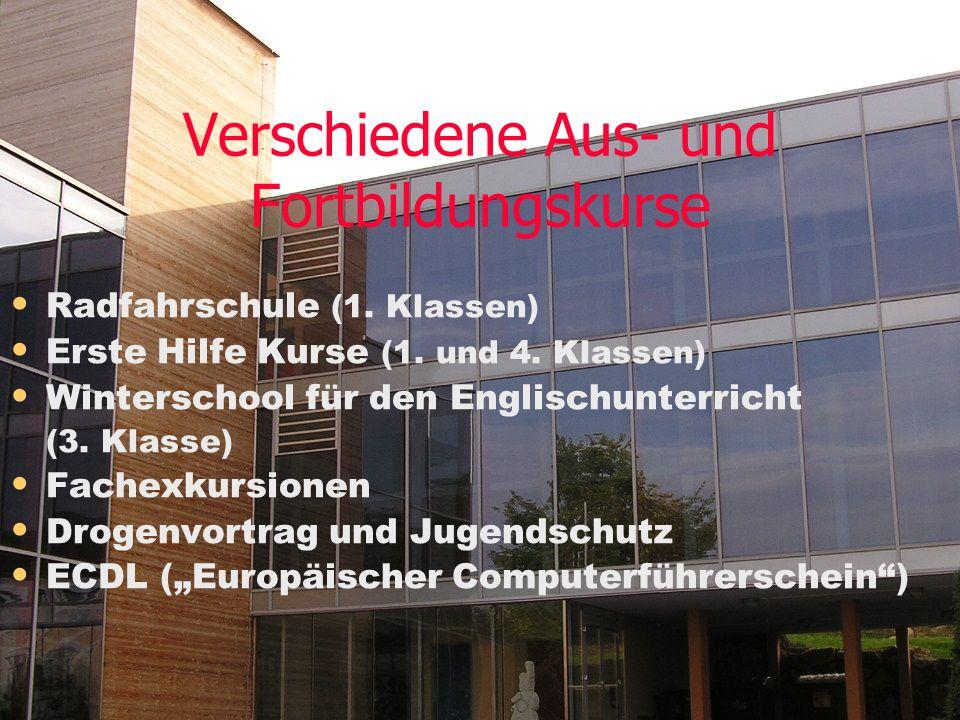Verschiedene Aus- und Fortbildungskurse Radfahrschule (1.