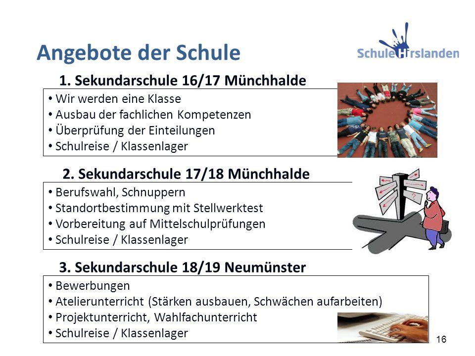 Bewerbungen Atelierunterricht (Stärken ausbauen, Schwächen aufarbeiten) Projektunterricht, Wahlfachunterricht Schulreise / Klassenlager Wir werden ein