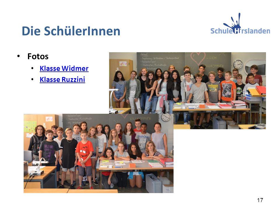 Die SchülerInnen Fotos Klasse Widmer Klasse Ruzzini 17