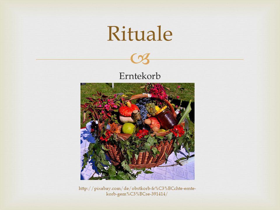  Gottesdienste Rituale http://commons.wikimedia.org/wiki/File:Erntedankfest_Ursp rung.JPG