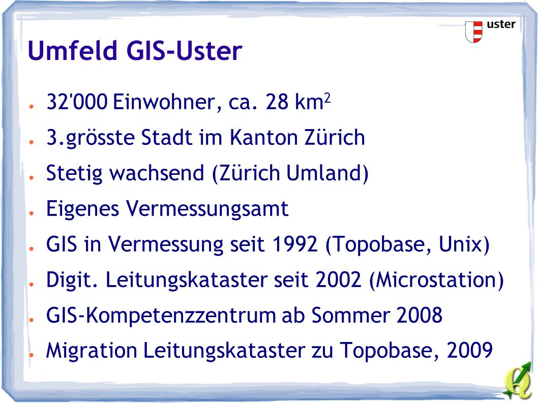 GIS-Architektur Uster