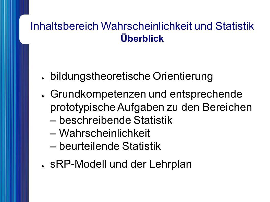"""Inhaltsbereich Wahrscheinlichkeit und Statistik Vergleich mit dem Lehrplan, Abschnitt """"Lehrstoff 7."""