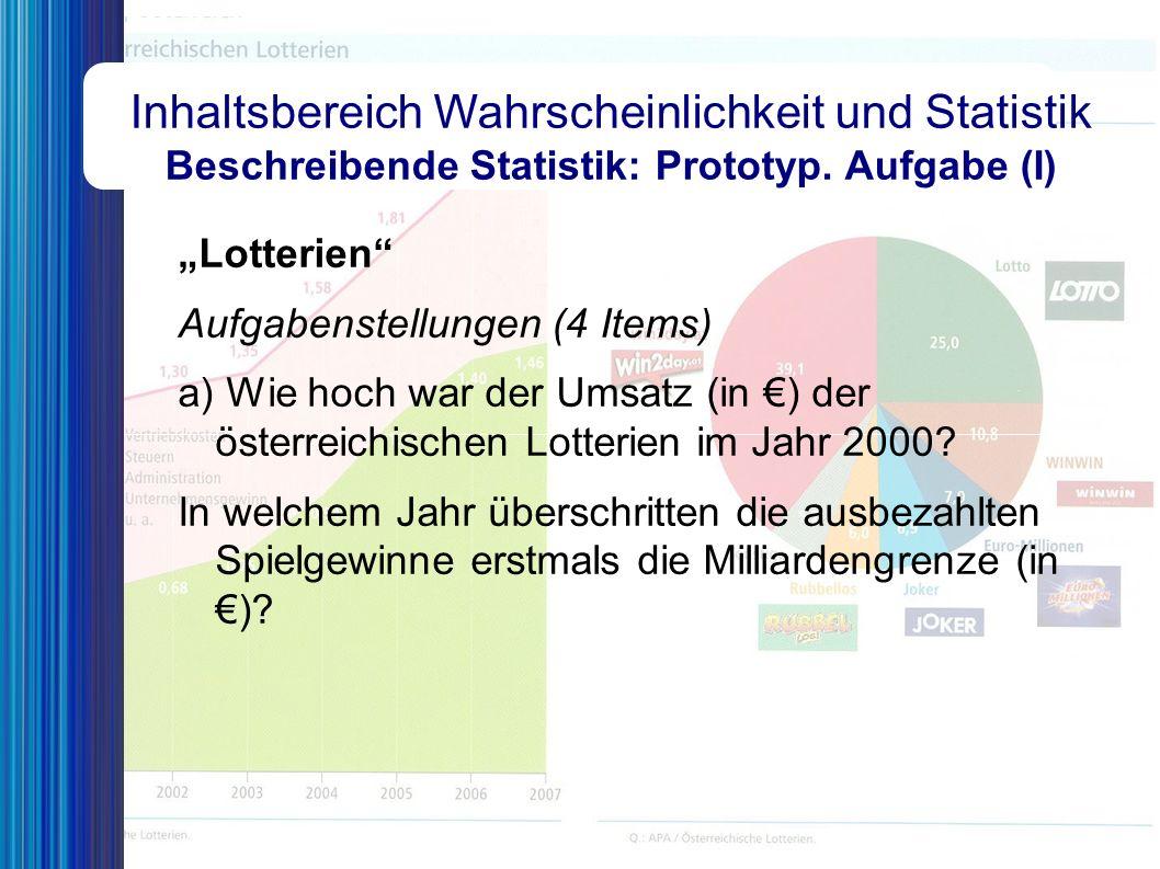 """Inhaltsbereich Wahrscheinlichkeit und Statistik Wahrscheinlichkeit: Prototypische Aufgabe (II) """"Anteil an Akademiker(inne)n (Forts.) Aufgabenstellung Mit Hilfe der Wahrscheinlichkeitsrechnung lassen sich die Formulierungen """"erwartet man und """"ungefähr mathematisch präzisieren und quantifizieren."""