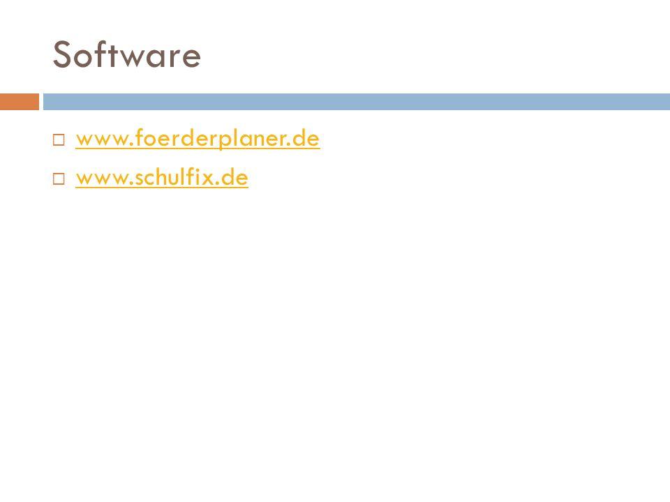 Software  www.foerderplaner.de www.foerderplaner.de  www.schulfix.de www.schulfix.de