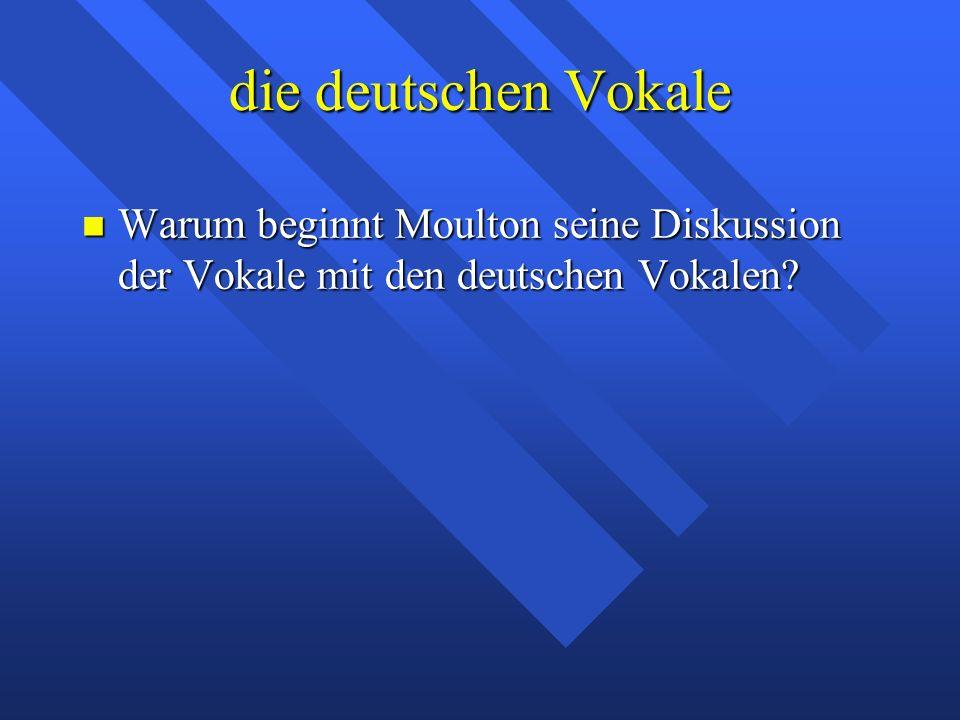 Phonemik Die deutschen Vokale