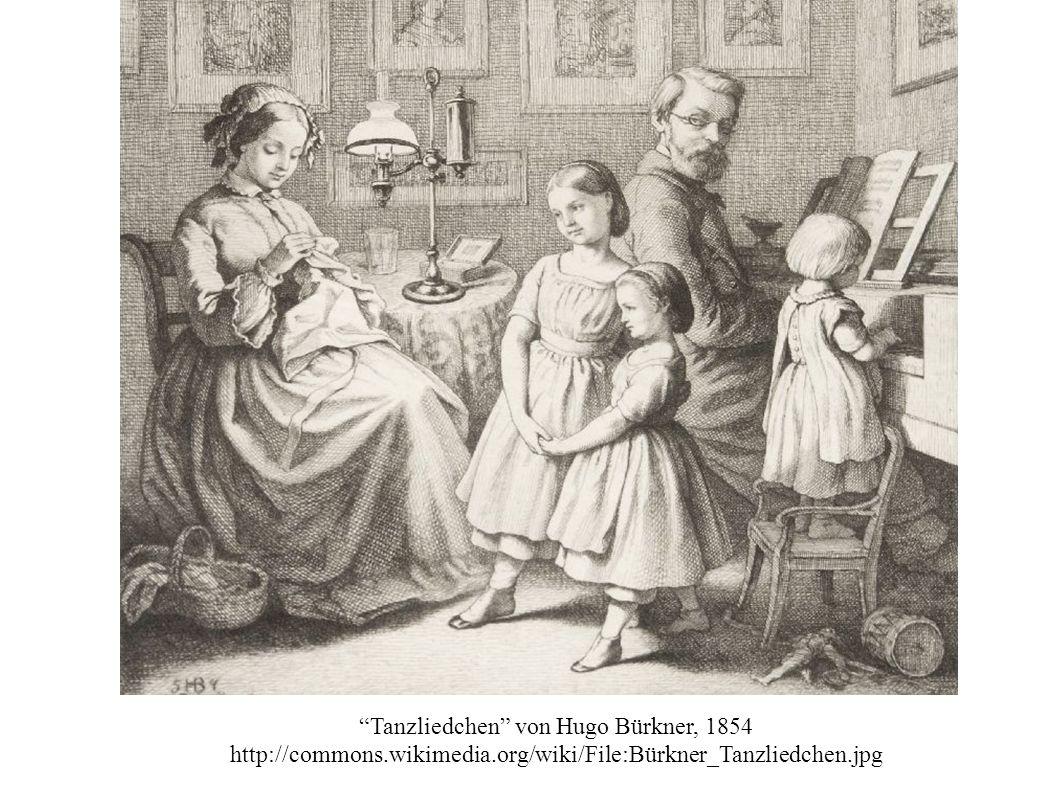 """Tanzliedchen"" von Hugo Bürkner, 1854 http://commons.wikimedia.org/wiki/File:Bürkner_Tanzliedchen.jpg"